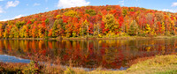 Reflections of an Autumn Hillside - Panorama